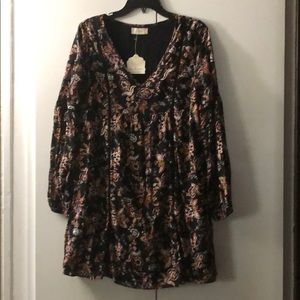 New Altar'd State Small Black Floral Dress